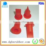 Red weather resistant red silicone valve for plastic bottle