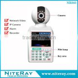 Digital home security network ip camera with wireless alarm system support smoke detector hidden