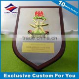 High Quality Sublimation Metal Plaques Gold and Silver Finished Wooden Award on Metal plate