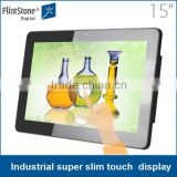 15.6 inch super slim android all in one touch screen tablet POS kiosk stand
