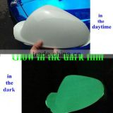 High glossy color changed air bubbles free car body glow in the dark fluorescence vinyl film