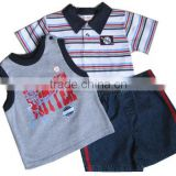 boys stripe Children t shirts + Pants sports suit Summer Clothes Sets                                                                         Quality Choice