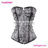 Paypal Accept Gray XXL Full Steel Boned Corset                                                                         Quality Choice                                                     Most Popular