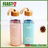 borosilicate glass water bottle with bamboo lid                                                                         Quality Choice
