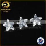 Zuanfa 8*8mm Star shape white cubic zirconia stone artificial stone                                                                                                         Supplier's Choice