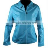 Blue Color Ladies Leather Jacket, Blue Leather Jacket, Womens Leather jacket, Fitted Leather Jacket