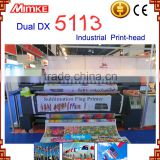 fast speed Digital sublimation flag banner flex making machine with double DX5113 head
