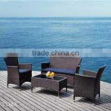 Weather-resistant Cheap outdoor garden sectional sofa rattan sofa set with cushions outdoor sofa set