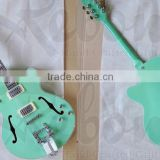 Weifang Rebon hollowbody jazz electric guitar with light green colour