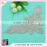 HC-3569 Hechun Bridal Decoration New Trend Butterfly Shape Sewing Applique Work Design with Full Diamand