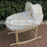 wholesale baby furniture moses basket in maize peel or wicker