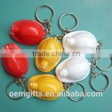 Hot promotional safety helmet shape led keychain