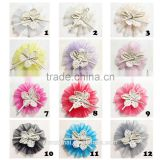DIY Baby Flower Hair Accessory Bow Headwear brooch No Clip                                                                         Quality Choice