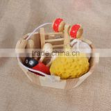 Hot selling natural wooden bath pumice stone and bath brush,bath sponge set