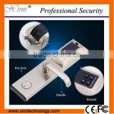 Smart card and fingerprint door lock system with card reader and keypad hotel handle lock system