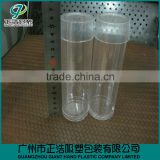 Custom made recycled transparent PET/PVC/PP plastic folding round cylinder boxes for gift
