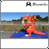 Giant inflatable water zenith dragon, inflatable red dragon animals for advertising