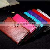 Factory High Quality Crazy Horse Pattern Wallet PC+PU Leather Case for iPhone 6 Plus Case with Photo Frame with card slot