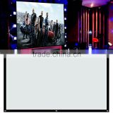 Pvc matt white projection screen fabric simple screen cheapest price for home theater movies
