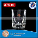 Hand made 280ml large drinking glasses whisky glass tumbler