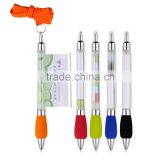 Customized Logo Scrolling Message Ball Pens with string