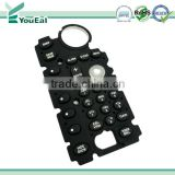 Laser Etched Silicone Rubber Keypads, Silicone, LED Backlight, Graphic can be Shown by Using Laser Etching Technology