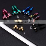 Fashion Stainless Steel Colorful Crystal Body Piercing Jewelry