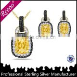 Fashion costume dubai gold jewelry set