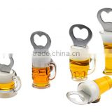 Exquisite beer cup shape Fridge Magnet Bottle Opener for Promotion gifts