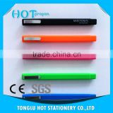 soft rubber coated triangle ball pen with logo