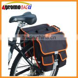 China factory Double Bike panniers bicycle rear rack bike accessories bag