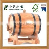 2015 china factory suppliers FSC&SA8000 selling 100L OAK used wooden wine barrels for high quality wholesale