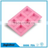 New Arrival 6 Cubes DIY Square Silicone Soap Pudding Jelly Molds