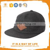 Custom design only cool fitted suede brim 5 panel hat wool leather patch 5 panel hats and caps