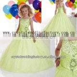 Free shipping beaded sequined ball gown skirt cheap little girl pageant dresses CWFaf5229