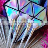 Free sample Beauty skin care Unicorn makeup brushes set kit face brush with travelling bag