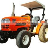 LZ284 28HP 4WD Mini small garden tractor with rops sunshade, with 4in1 loader, slasher mower, backhoe, wood chipper etc.