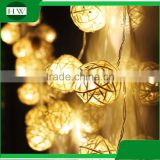 Christmas Wedding party holiday event celebration home room decoration strobe Rattan Ball LED string light Luminaria