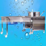 professional stainless steel industrial hot air gas football popcorn making machine maker