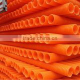 plastic corrugated Modified polypropylene pipe cable communications conduit electrical conduit pipe
