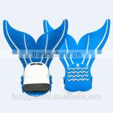 Blue color kid silicone rubber diving fins with customized service available
