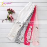 Wholesale Cheap Price Good Quality Girl Embroidered Lace Panelled Pants