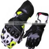 Black Motobike racing Leather Gloves