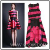 2015 Spring Summer Fashion Floral Dress for Ladies