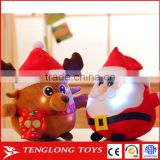 Wholesale led light santa claus with voice stuffed toys for christmas gift