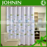 hot sales new design digital printing customized waterproof hook Cartoon fish shower curtain