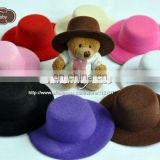 "2013 Hot Sale Promotion Cute 3"" Mini Top Hat Baby Hats Felted Wool on sunshine field"