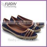 Wholesale Flat Women Sneakers Loafer Casual Shoe Leather