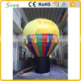 Rainbow color large inflatable hot air balloon model