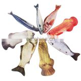 The simulation of printing fish toys accept custom printing fish pillow Factory directly